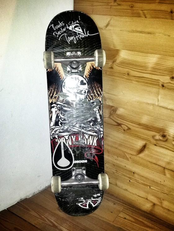 Tony skateboard was a great present!