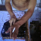 Batik dog stamp process